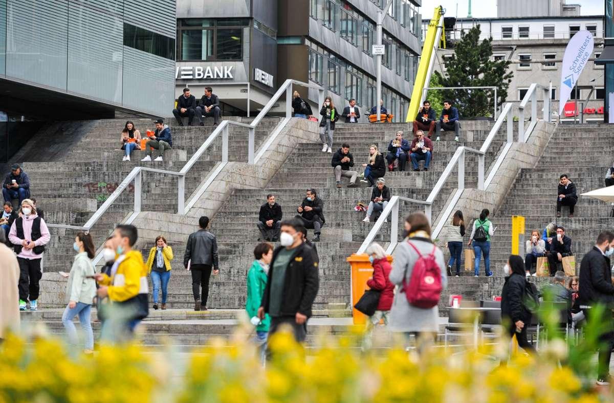Stuttgart rutscht zurück in die Inzidenzstufe zwei. Foto: Lichtgut/Max Kovalenko