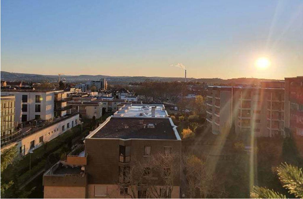 Fensterblick  vom Stadtrand von Bad Cannstatt.. Foto: Unnützes Stuttgartwissen