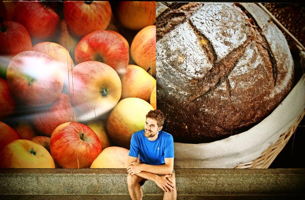 Michael Neumann will in Waiblingen einen Fair-Teiler einrichten, damit weniger Lebensmittel im Müll landen. Foto: Gottfried Stoppel