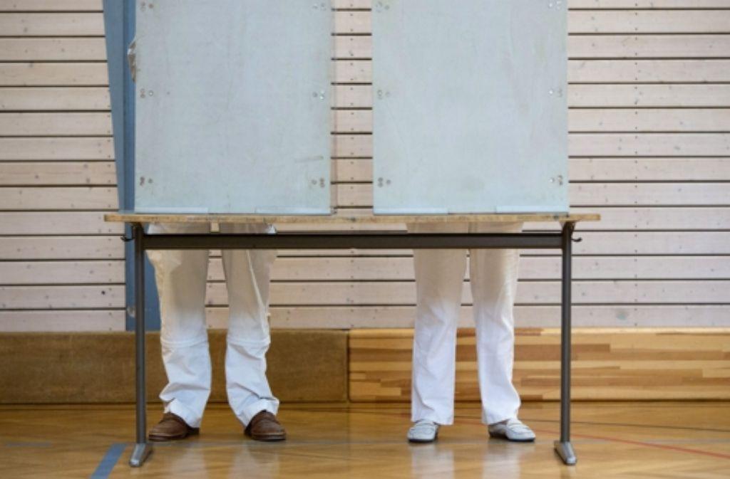 Bundestagswahl 2013: Abstimmung in der Stuttgarter Heusteigschule Foto: Michael Steinert
