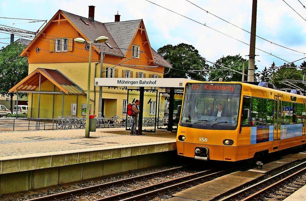 In den Osterferien ist am Möhringer Bahnhof für viele Stadtbahnen Endstation. Foto: Archiv Alexandra Kratz