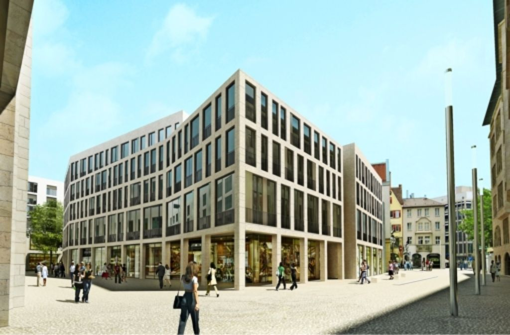 So sieht der Entwurf der Architekten H4A/Vögele Architekten für den Neubau an der Eichstraße aus. Foto: Visualisierung: h4a|va