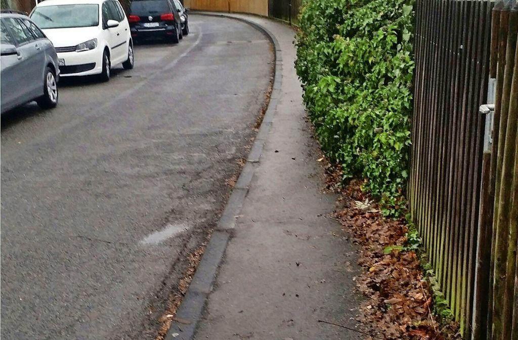 Da bleibt prinzipiell wenig Platz für Fußgänger. Foto: Elke Rutschmann
