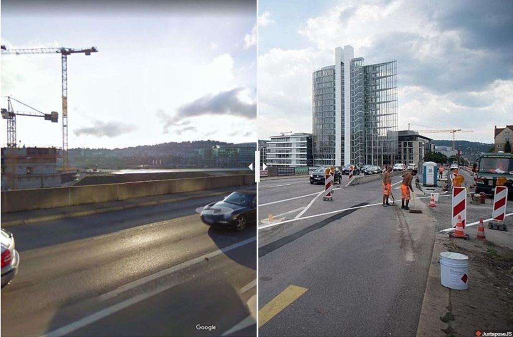 Die Aussicht von der Heilbronner Straße hat sich in den letzten zehn Jahren stark verändert. Foto: Google Street View/Lichtgut