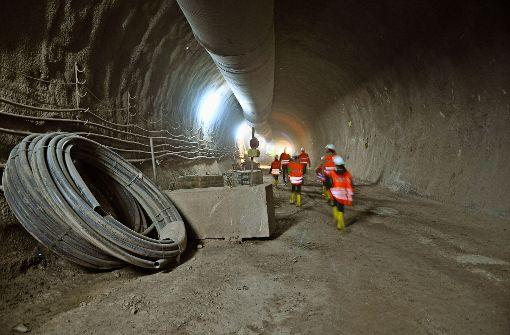 Tunnelarbeiten bei S 21 Foto: Claudia Leihenseder