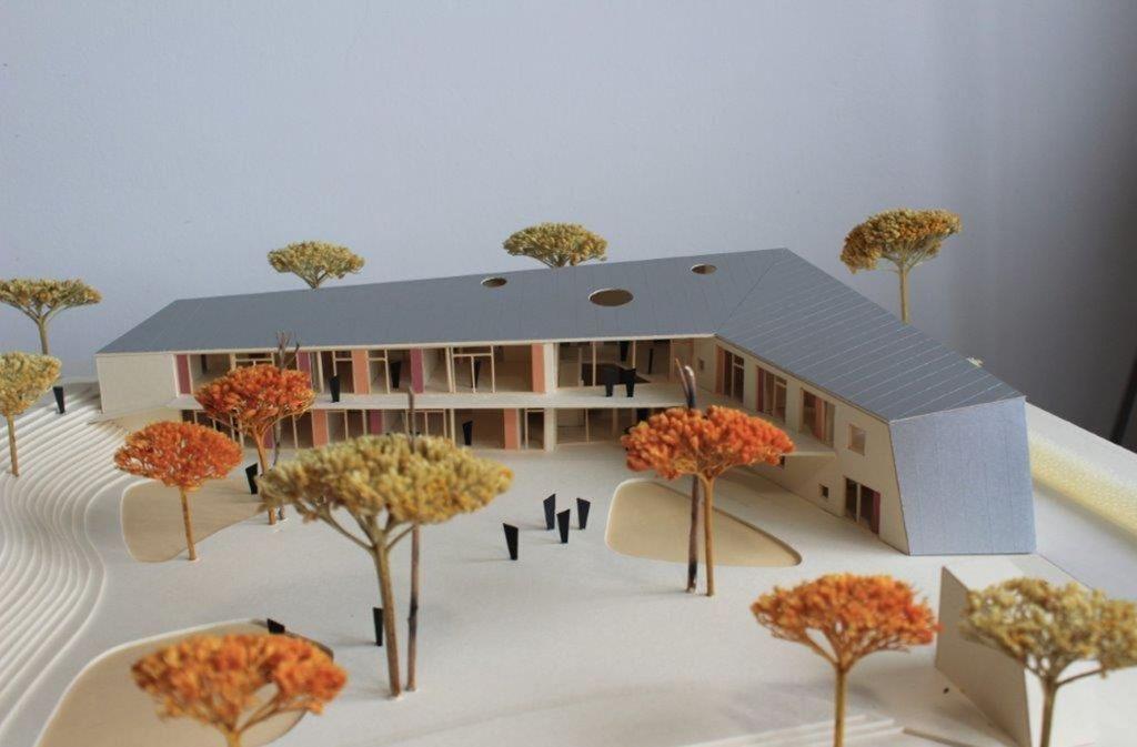 Der Katholische Kindergarten bekommt eine L-Form. Foto: Büro Ströhle