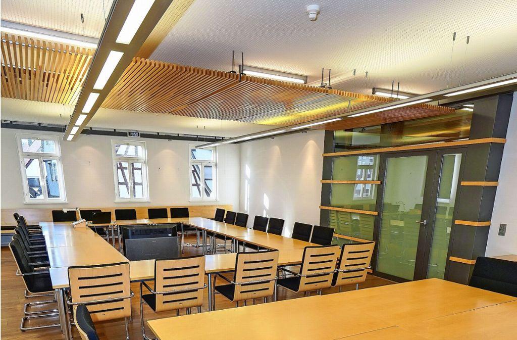 Der  Renninger Ratsaal: Wer nimmt hier künftig Platz? Foto: factum/Bach