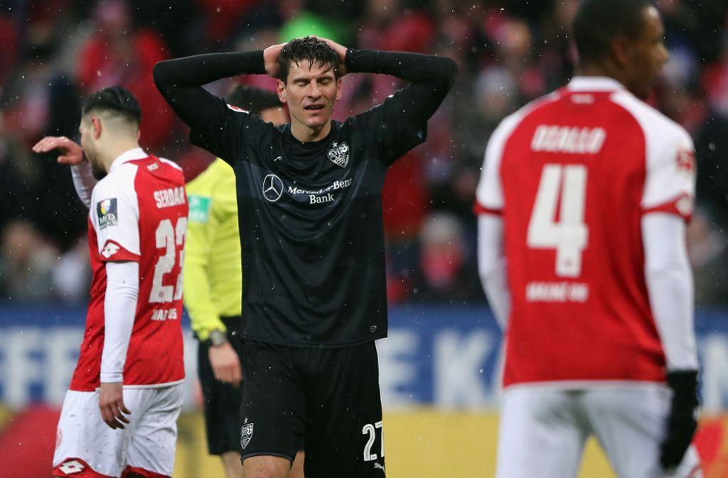 Der VfB hat in Mainz enttäuscht. Impressionen vom Spiel sehen Sie in unserer Fotostrecke. Foto: Bongarts