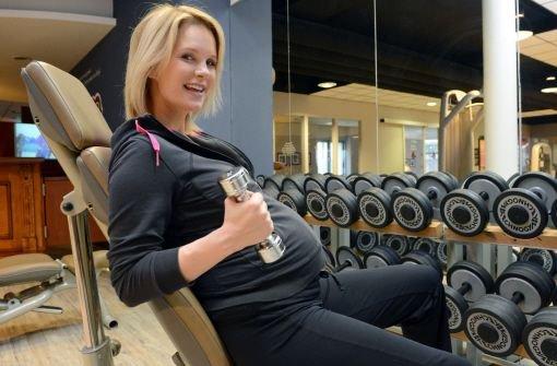 Ivancan schwanger im Fitnessstudio