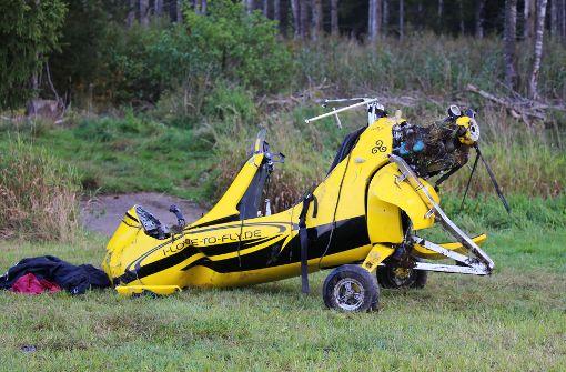 Hubschrauber stürzt ab – Zwei Schwerverletzte