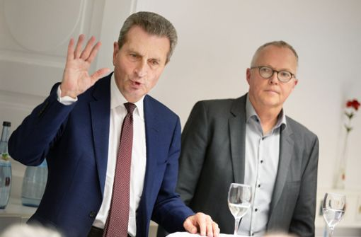 Günther  Oettinger fordert rasche Entscheidung