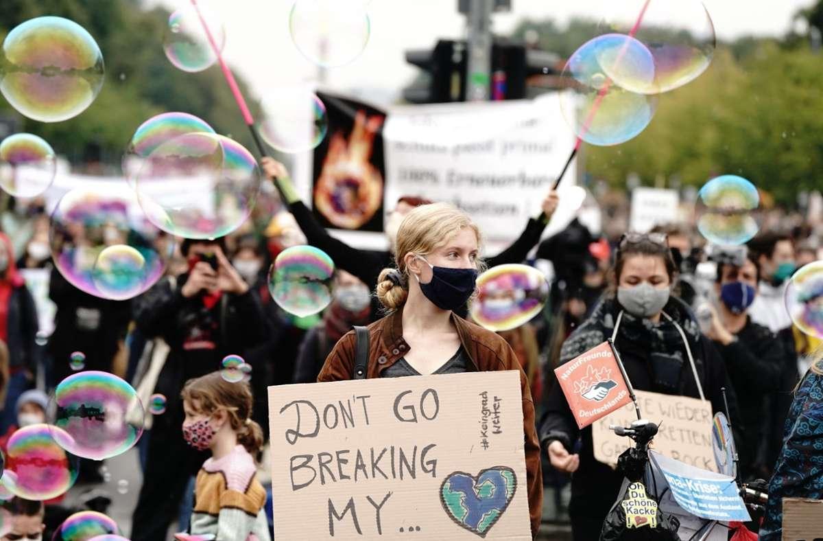 Für den 24. Sepember 2021 ruft Fridays for Future zum vierten weltweiten Klimastreik auf. Foto: dpa/Kay Nietfeld