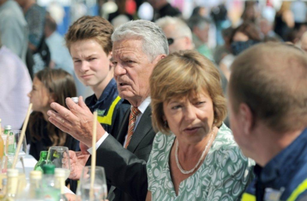 Das Bürgefest bei Bundespräsident Joachim Gauck lockt 10.000 Gäste nach Berlin. Foto: dpa-Zentralbild