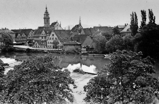 Das alte Neckarwehr verschwand vor 85 Jahren