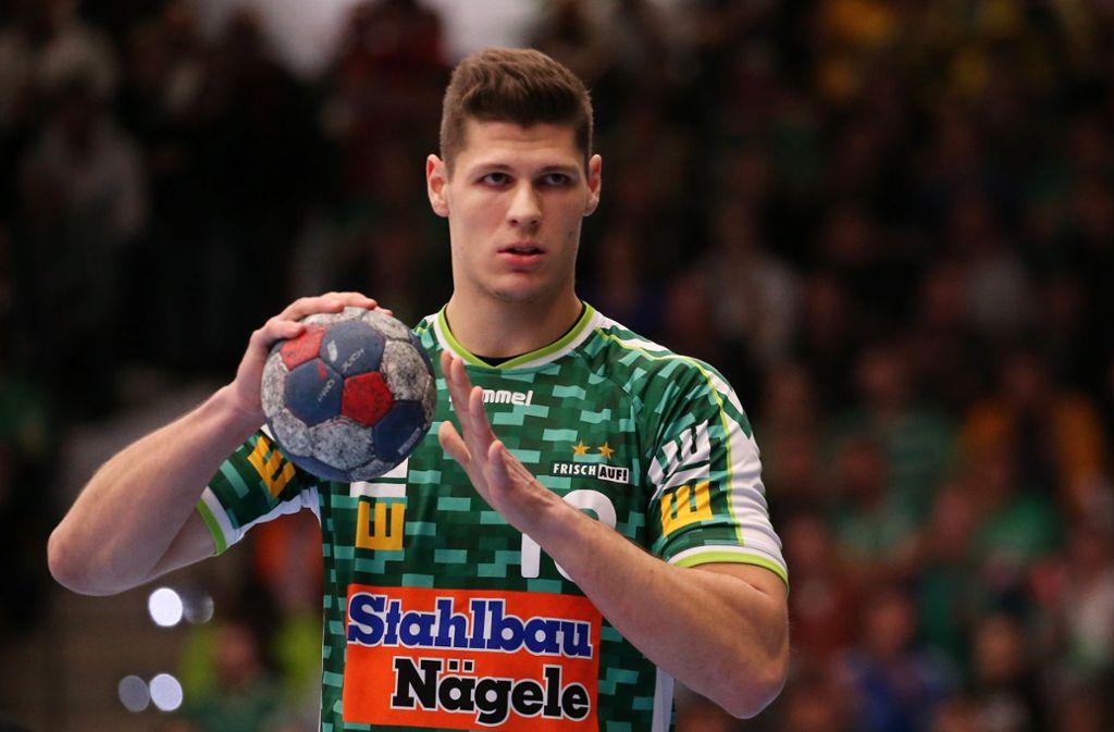 Der Göppinger Rückraumspieler  Sebastian Heymann (21) steht am Samstag (14 Uhr/Sport 1)  vor seinem Handball-Länderspiel-Debüt. Foto: Baumann