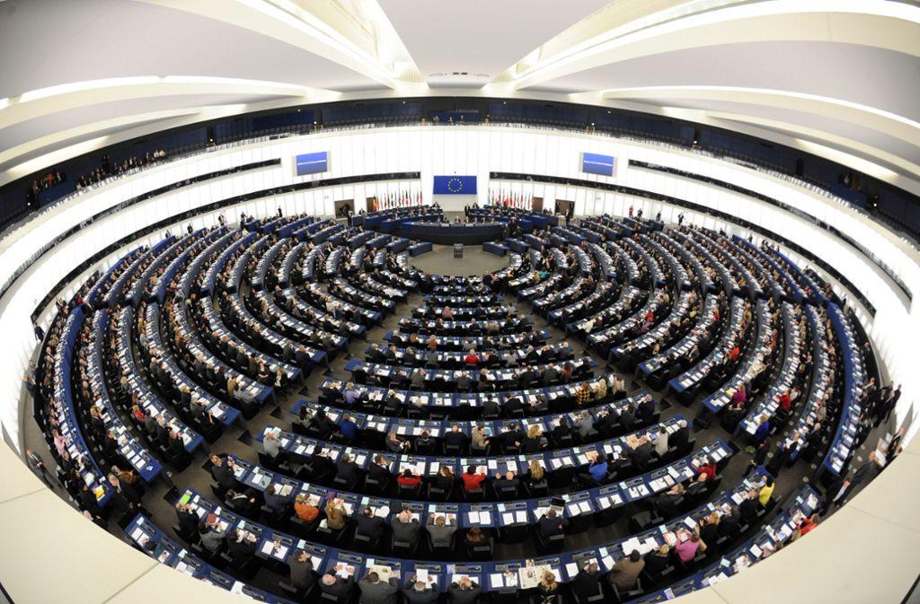 Der Plenarsaal des Europaparlaments in Straßburg. Foto: dpa