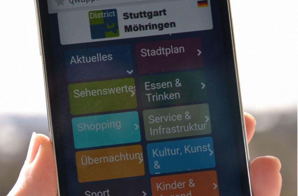 In der App finden sich allerlei Infos zum Bezirk und seinen Angeboten. Foto: Archiv Fatma Tetik