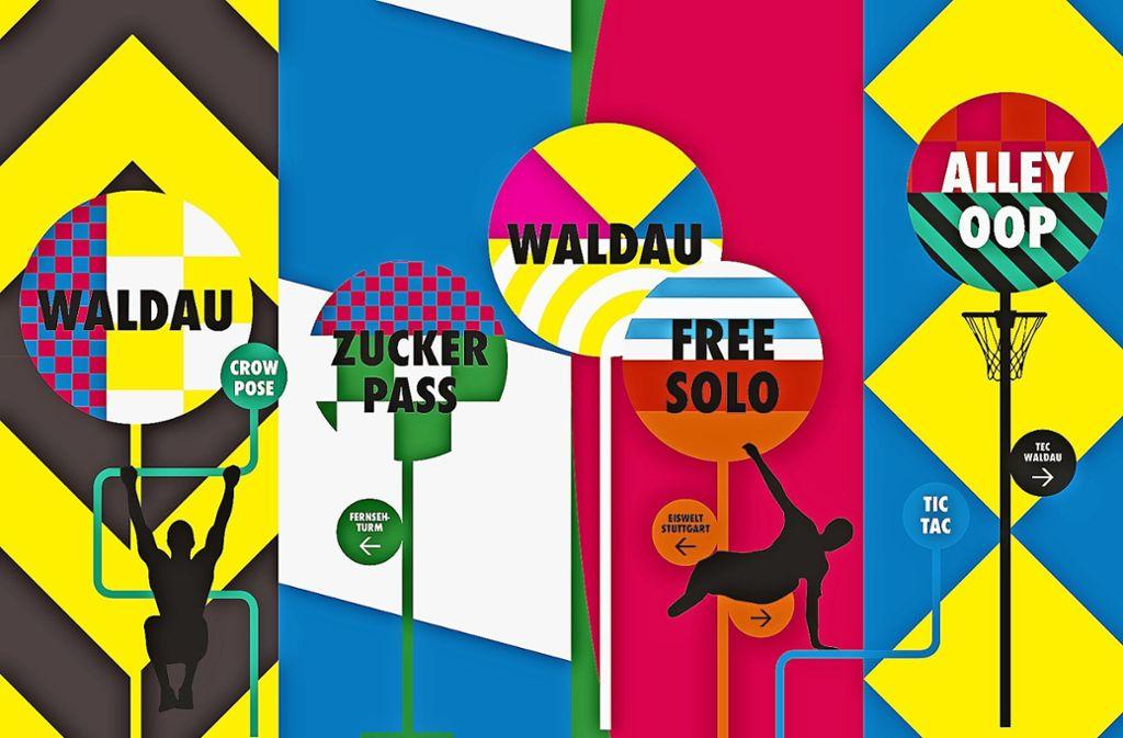 Die vielen Farben sollen die Logos der auf der Waldau ansässigen Vereine in sich aufnehmen. Foto: z