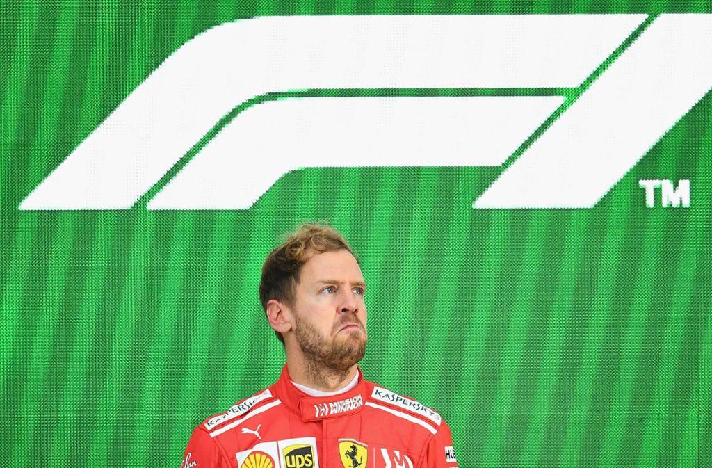 Sebastian Vettel verpasst auch in der Formel-1-Saison 2018 seinen fünften Weltmeistertitel. Foto: GETTY IMAGES
