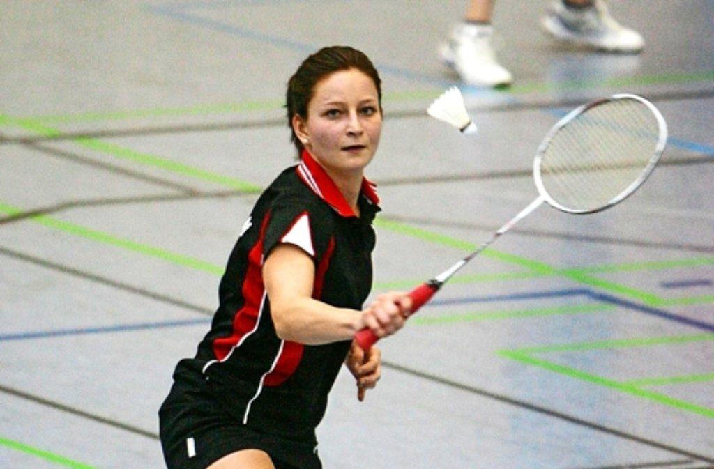 Schon wieder ein Aufstieg: Julia Igel punktete für die KSG Gerlingen im Doppel. Foto: Andreas Gorr