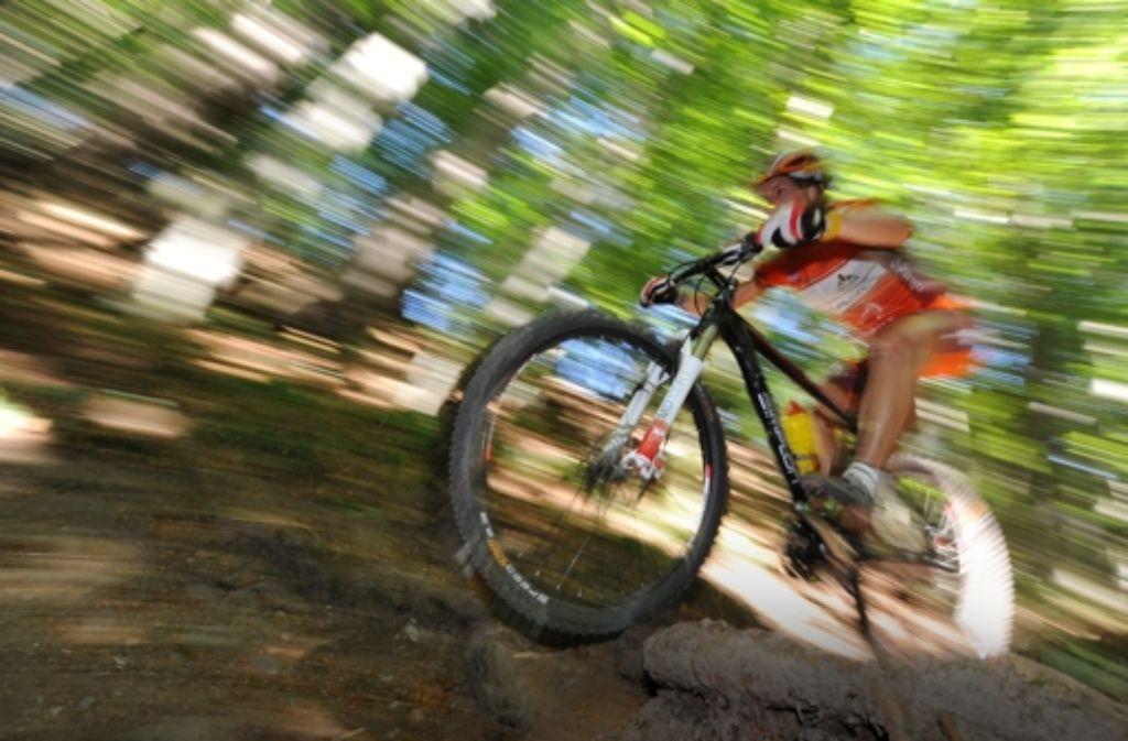 Die Mountainbike-Fahrer fordern seit Jahren offiziell ausgewiesene Strecken im Wald. Foto: dpa