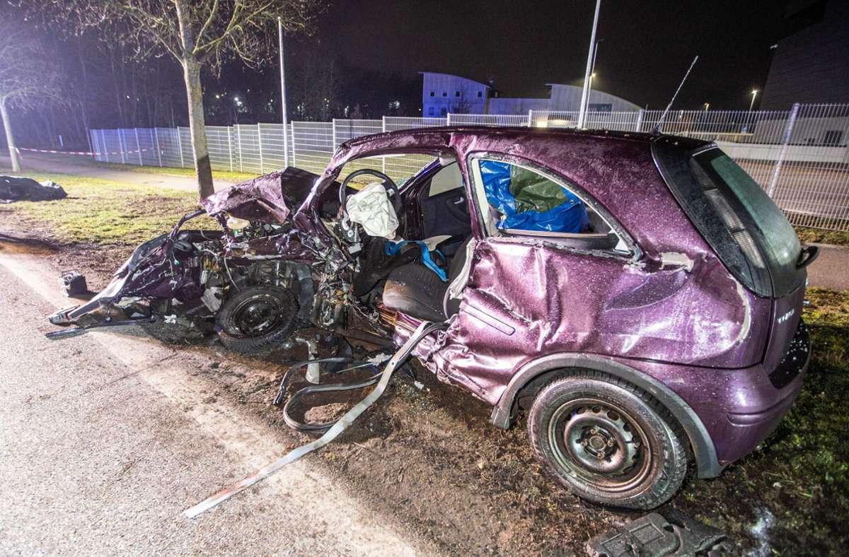 Ein 43-Jähriger ist bei einem Unfall in Tamm im Kreis Ludwigsburg ums Leben gekommen. Foto: 7aktuell.de/Simon Adomat