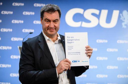 Koalition von CSU und Freien Wählern steht - Mehr Geld für Familien
