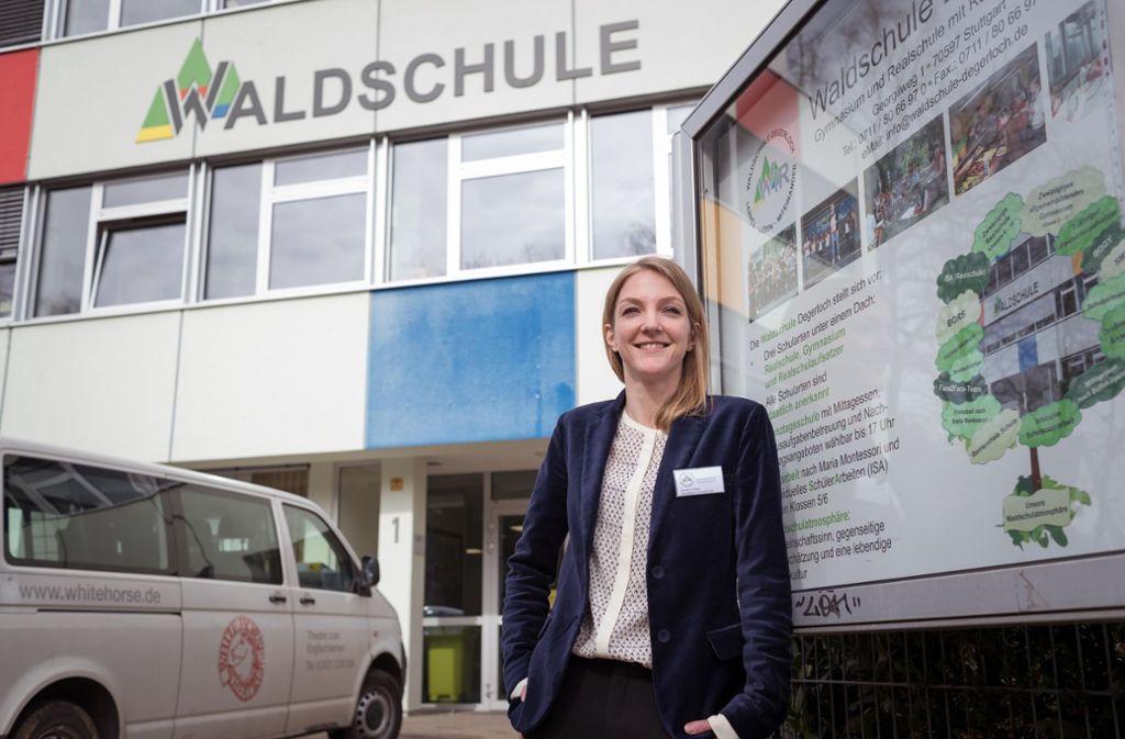 Kerstin Vollmer (32) freut sich als Leiterin der neuen Grundschule auf die Aufgabe Foto: Lichtgut/Max Kovalenko