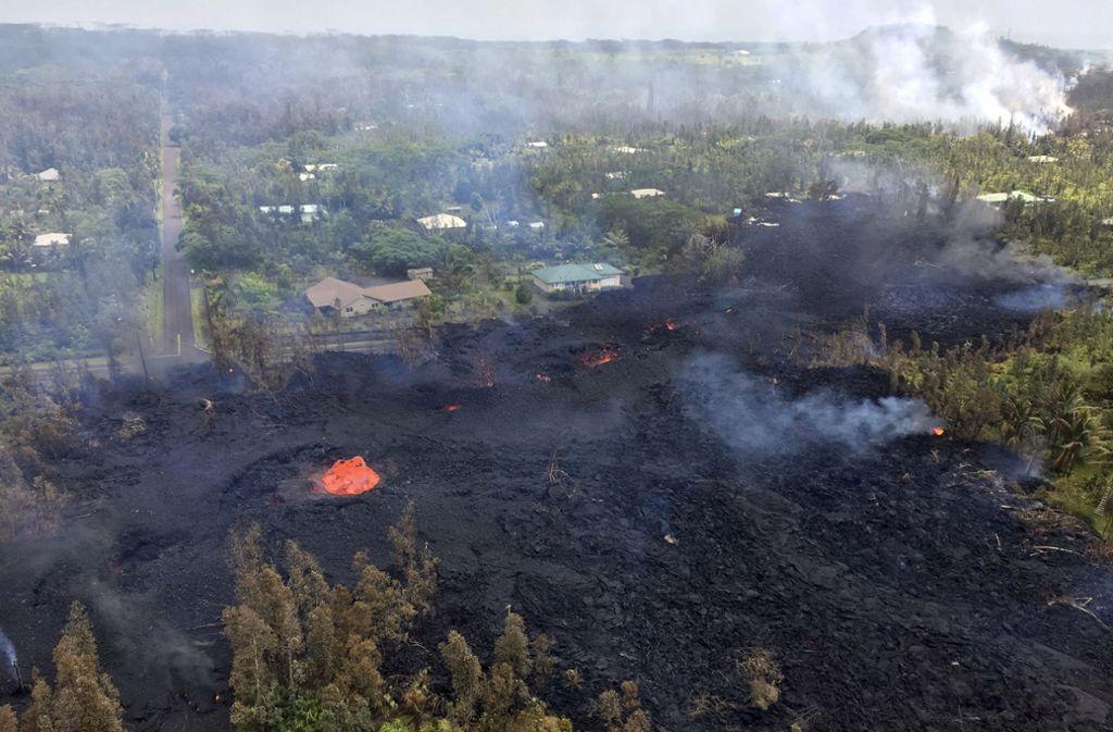 Viele Einwohner machen sich darauf gefasst, nach dem Vulkanausbruch ihre Häuser nicht mehr bewohnen zu können. Foto: U.S. Geological Survey