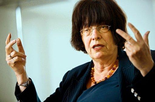 Staatsrätin Gisela Erler verspricht mehr Mitbestimmung bei Bauprojekten. Foto: Steinert