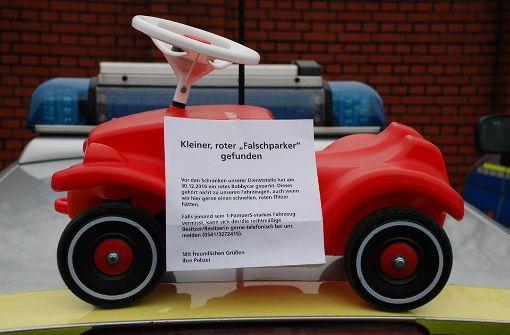 Dreijähriger Bobbycar-Falschparker meldet sich
