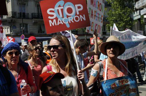 Zehntausende protestieren gegen Politik von Emmanuel Macron