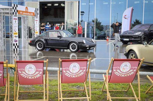 Porsche auf dem Präsentierteller