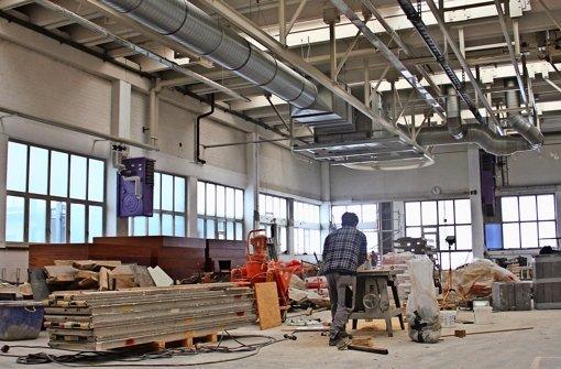 In der großen Halle im Erdgeschoss entsteht unter anderem ein Theater- und Probesaal. Foto: Torsten Ströbele