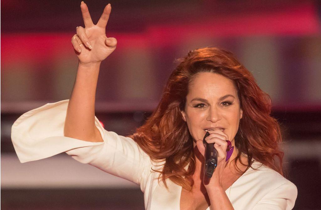 Andrea Berg zieht pro Konzert 15000 Besucher in die Mechatronik-Arena. Foto: dpa