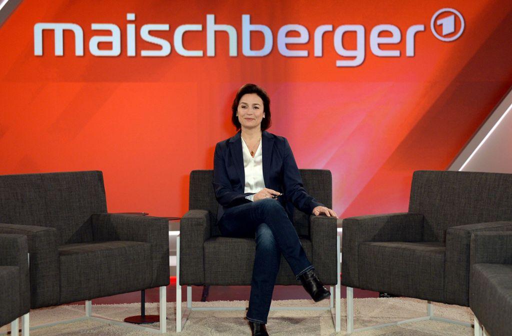 Sandra Maischberger fragte nach der Laufzeit der Großen Koalition. Foto: dpa