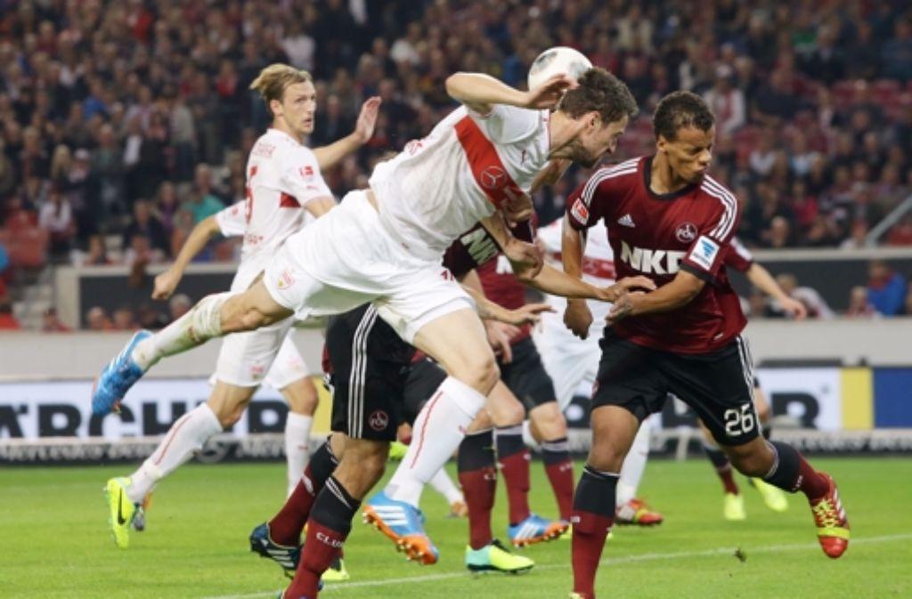 Klicken Sie sich durch unsere Bildergalerie mit Impressionen des Spiels VfB Stuttgart gegen 1. FC Nürnberg. Foto: Pressefoto Baumann