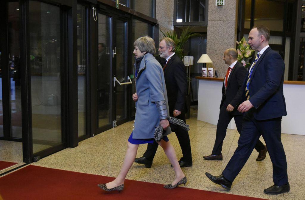 Eine letzte Frist: Bevor Großbritannien die EU verlässt, muss Theresa May im britischen Parlament noch einmal für die Zustimmung zum Austrittsvertrag kämpfen. Foto: AP