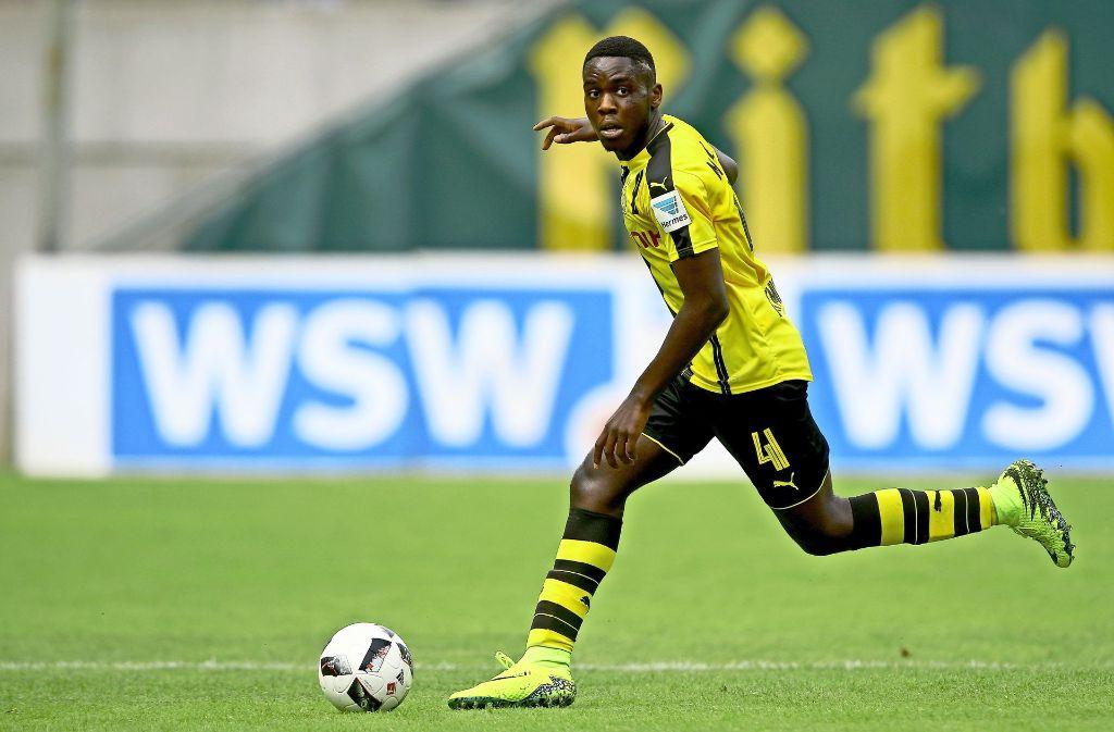 Orel Mangala kommt von der U 19 des BVB und ist belgischer Junioren-Nationalspieler. Foto: Bongarts