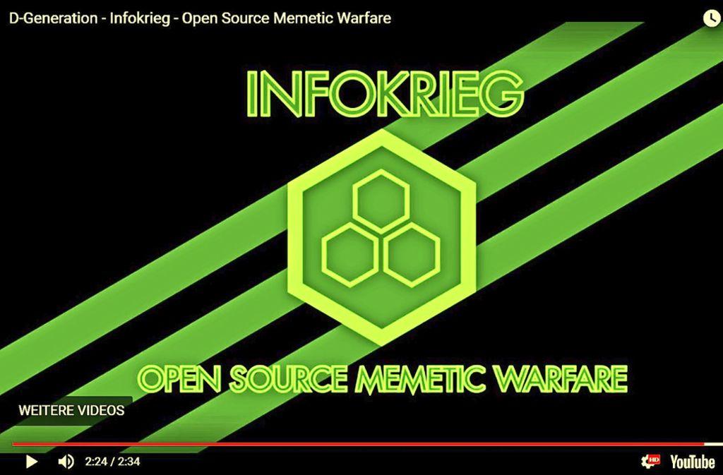 Rechte Websites sprechen  vom Infokrieg  und bieten Kampfanleitungen. Foto: Screenshot