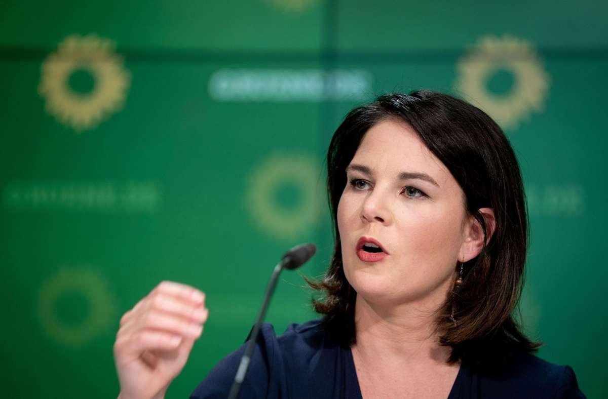 Ihr trauen die grünen Parteifreunde zu, ins Kanzleramt einzuziehen: Annalena Baerbock. Foto: dpa/Kay Nietfeld