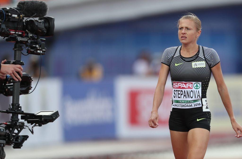 Im Fokus, allerdings nicht bei den Olympischen Spielen: Doping-Kronzeugin Julia Stepanowa erhält keine Starterlaubnis für Rio. Foto: dpa