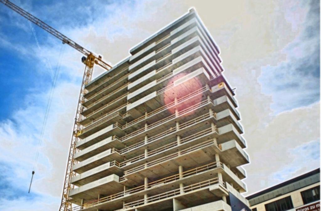 Im Cloud No 7 wurden im vierten Quartal des vergangenen Jahres acht Wohnungen verkauft. Foto: Lichtgut/Max Kovalenko