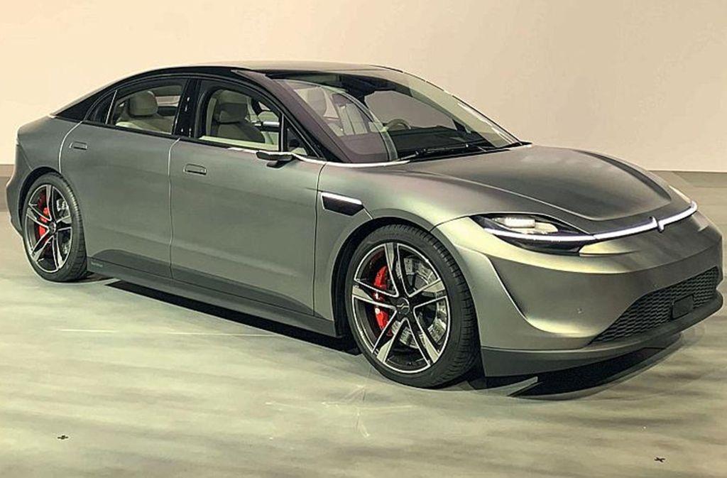 Sony stellte auf der Technikmesse CES in Las Vegas den Prototypen eines Elektroautos vor. Foto: dpa