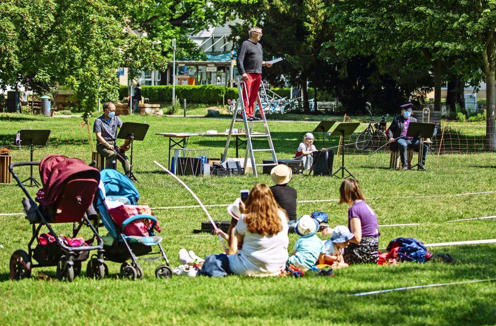 Demo im Park Foto: Lichtgut/Christoph Schmidt