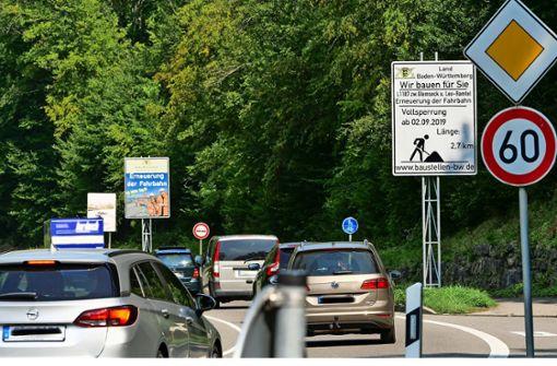 Ostanschluss und Straße zum Glemseck   gesperrt
