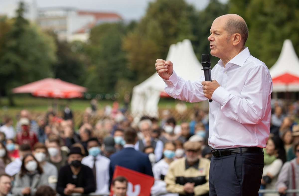 SPD-Kandidat Olaf Scholz tourt durch die Republik. Foto: dpa/Daniel Karmann