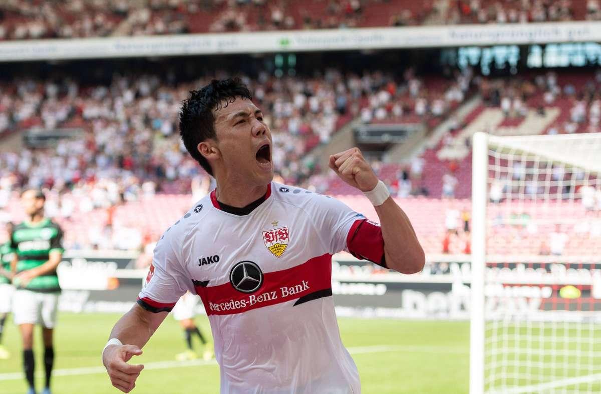 Kapitän Wataru Endo hat das höchste Rating aller VfB-Spieler. Foto: imago sportfotodienst/Eibner