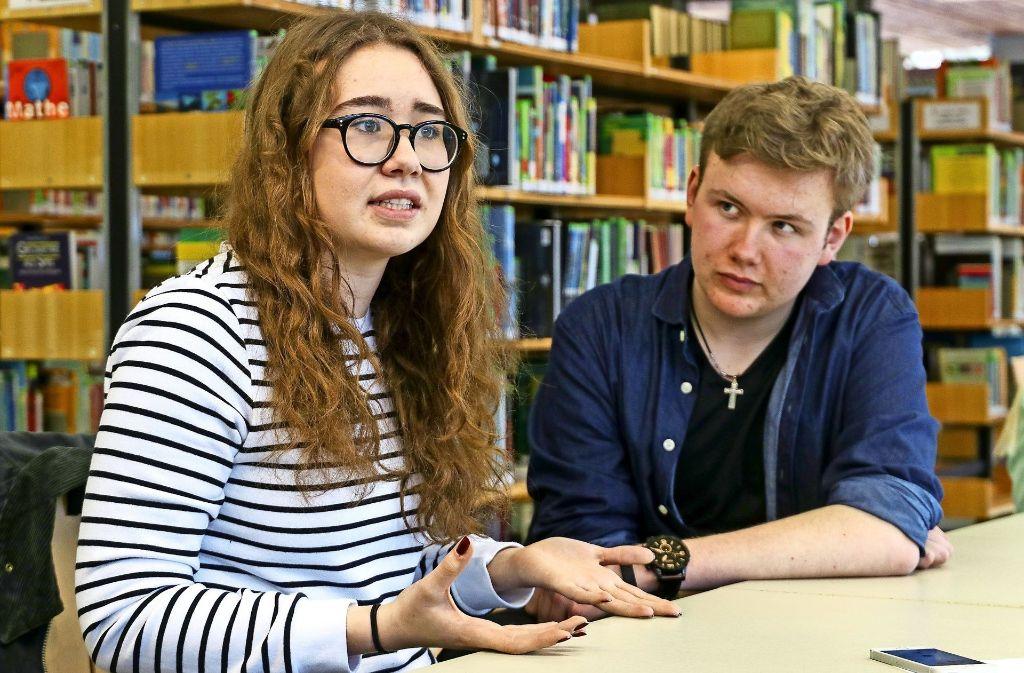 Coco Haag und Timm Overdick vom Otto-Hahn-Gymnasium wissen genau, was sie wollen: in den Jugengemeinderat, um  ihren Altersgenossen Gehör zu verschaffen. Foto: factum/Granville