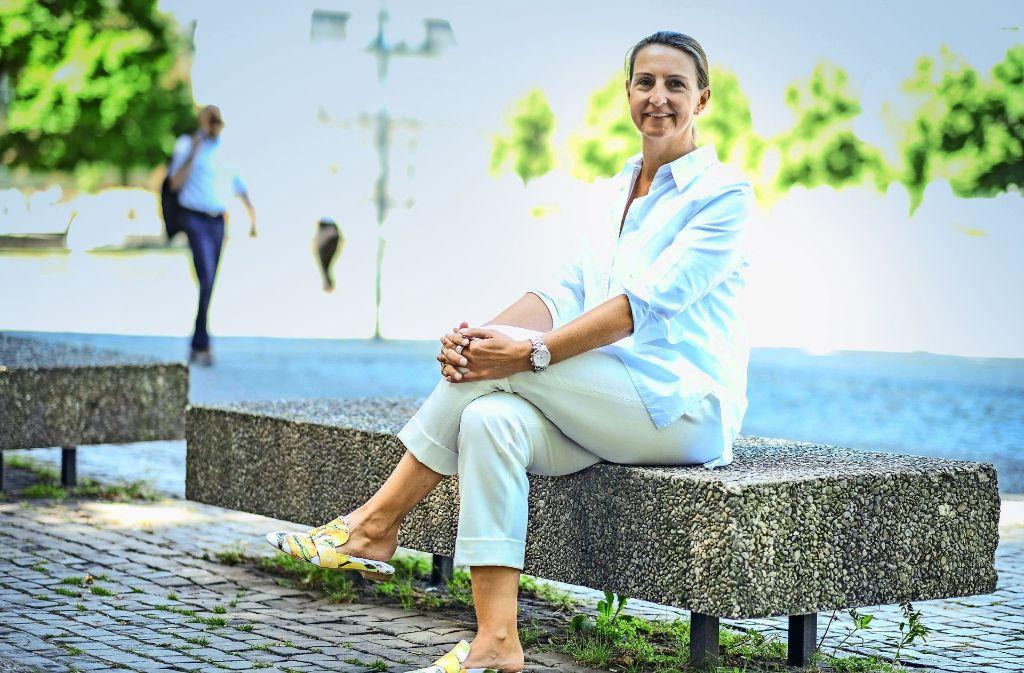 Bettina Fuchs wünscht sich eine familienfreundliche Innenstadt. Foto: Lichtgut/Leif Piechowski